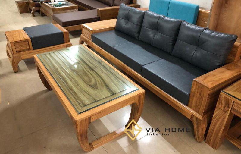 Sofa gỗ chữ L là thiết kế ưa chuộng của mọi nhà