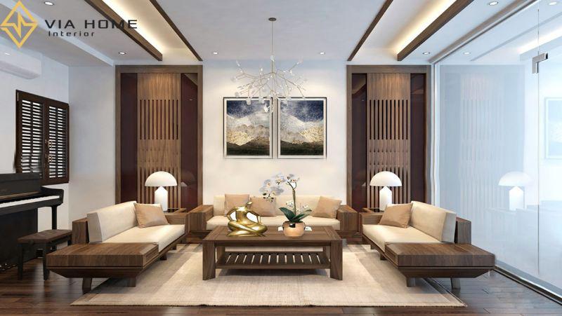 Sofa gỗ có cấu tạo đơn giản nhưng không kém phần tinh tế