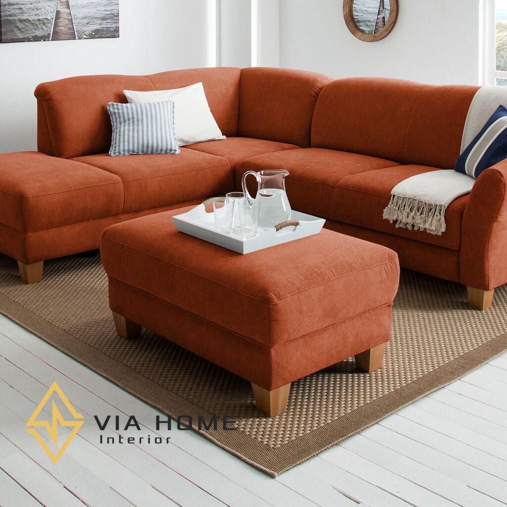 Ghế sofa đôn thường đi kèm với bộ sofa giúp tăng thêm diện tích ngồi