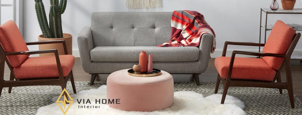 Đôn tròn sofa nhỏ gọn