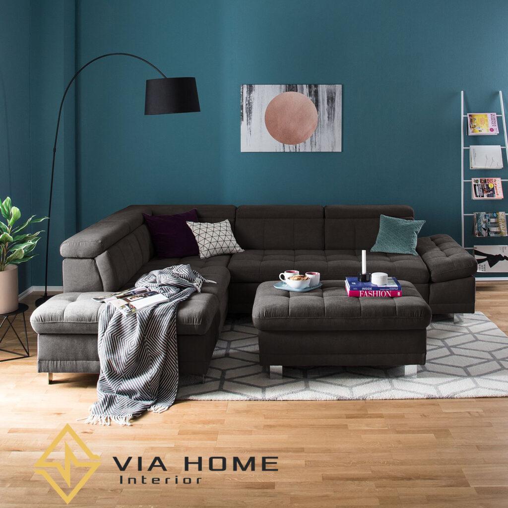 Sofa đôn hình chữ nhật sang trọng