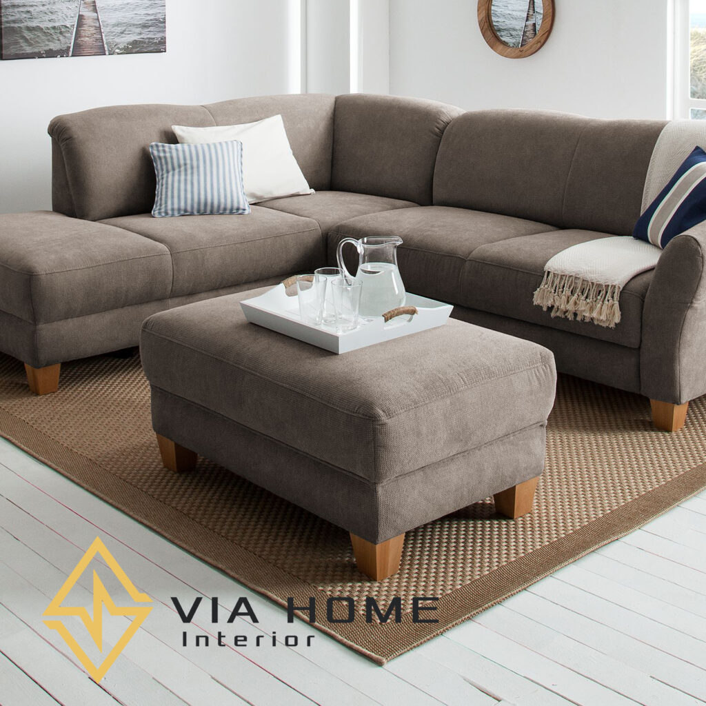 Sofa đôn hình vuông đẹp mắt, gọn gàng