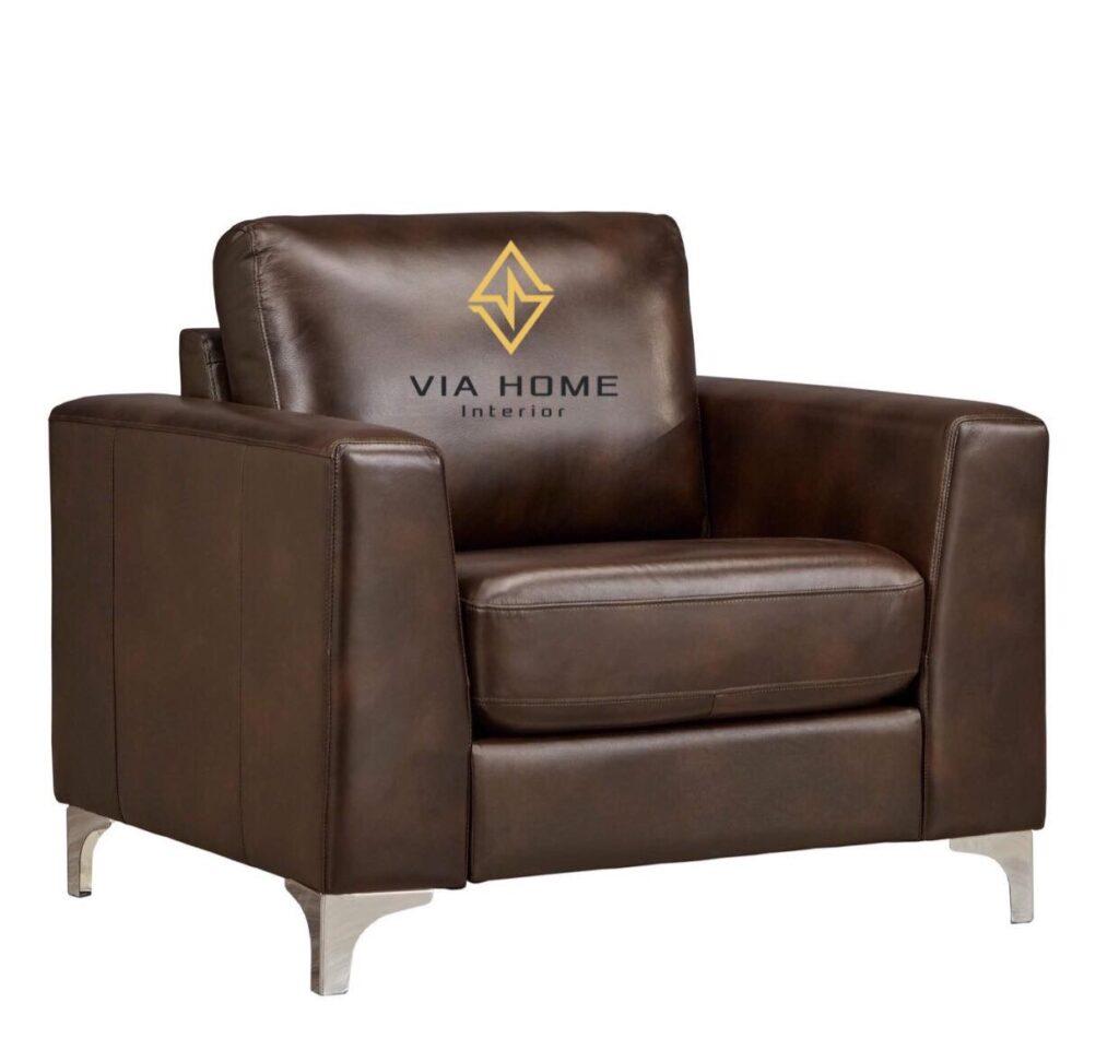 Ghế sofa đơn da giúp căn phòng bạn trở nên hiện đại, sang trọng hơn