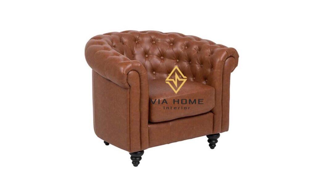 Sofa đơn da tại VIA HOME dùng nguồn chất liệu tốt, bền