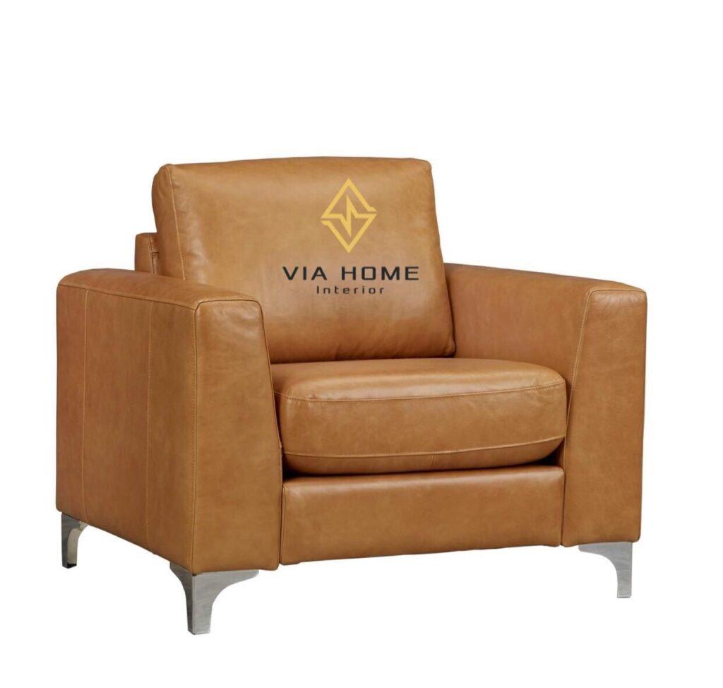 Sofa đơn mini bọc da rất được ưa chuộng vì vẻ ngoài sang trọng