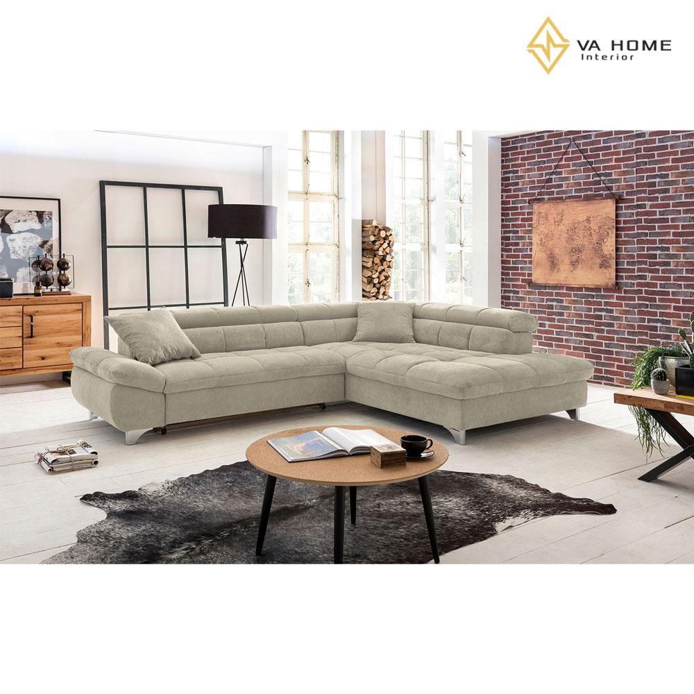 Sofa chữ L mang lại không gian sống thoải mái cho gia đình