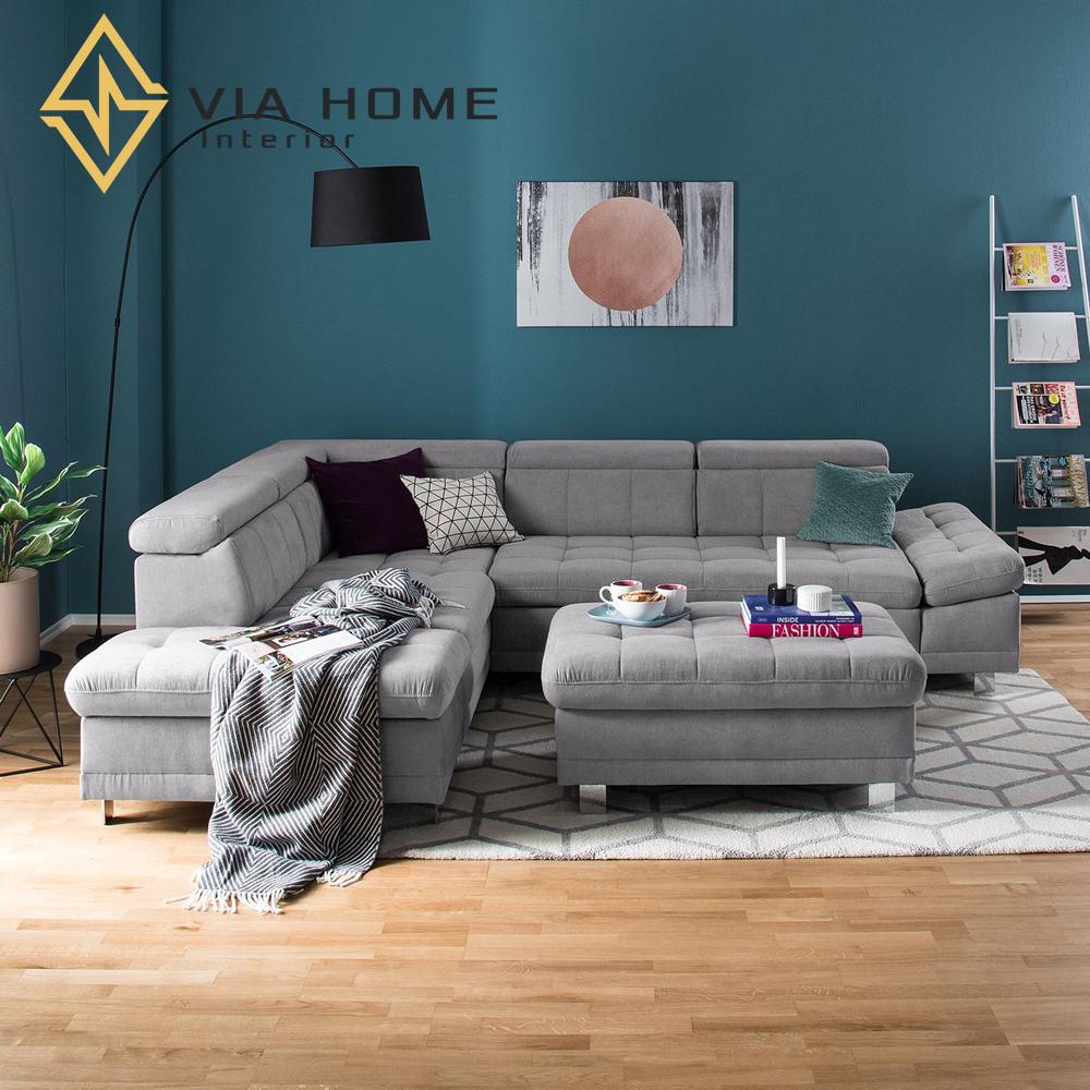 Sofa góc trái giúp không gian nhà rộng hơn