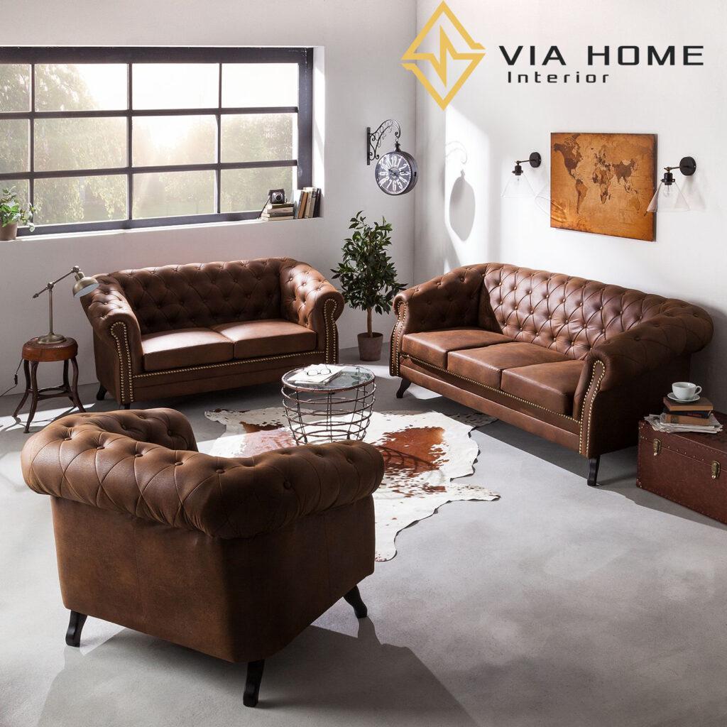 Sofa da lộn được làm từ công nghệ đặc biệt tạo nên bề mặt mềm mịn, êm ái