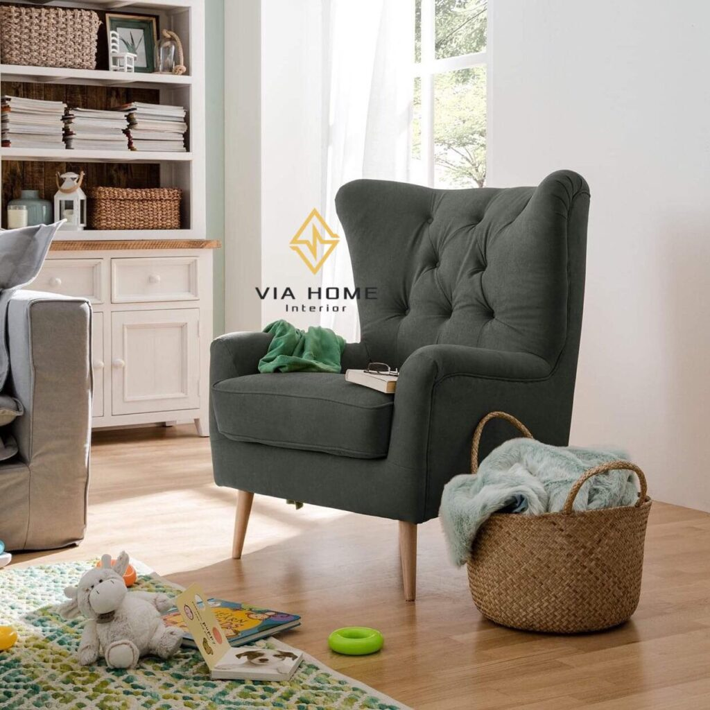Sofa đơn bằng vải văng đẹp mắt và có nhiều màu để lựa chọn