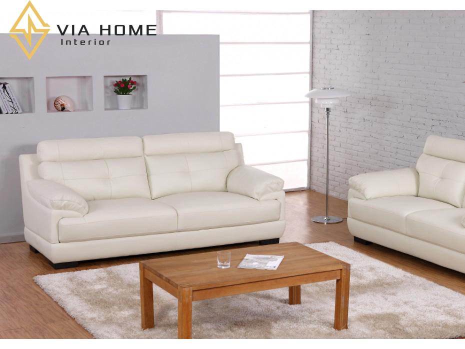 Ghế sofa simili giả da giúp phòng khách nhà bạn trở nên sang trọng và hiện đại hơn