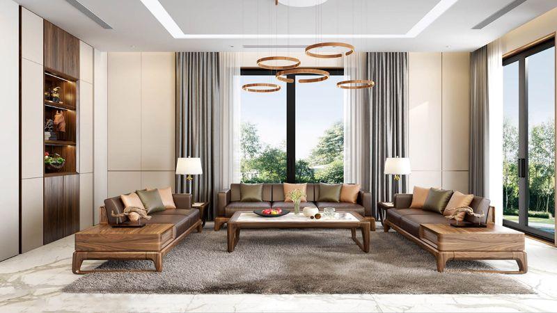 Sofa gỗ chữ U là sản phẩm nội thất được yêu thích của nhiều gia chủ