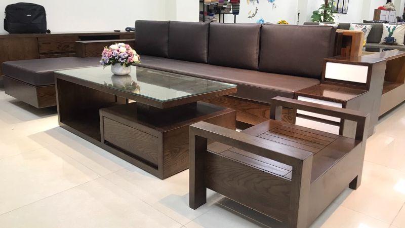 Sofa gỗ chữ U hiện đại mang đến vẻ đẹp sang trọng – thời thượng