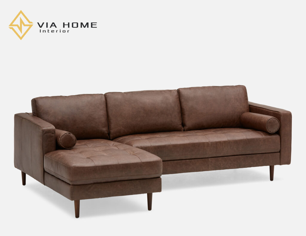 Sofa góc da tiết kiệm diện tích thông minh cho ngôi nhà của bạn.