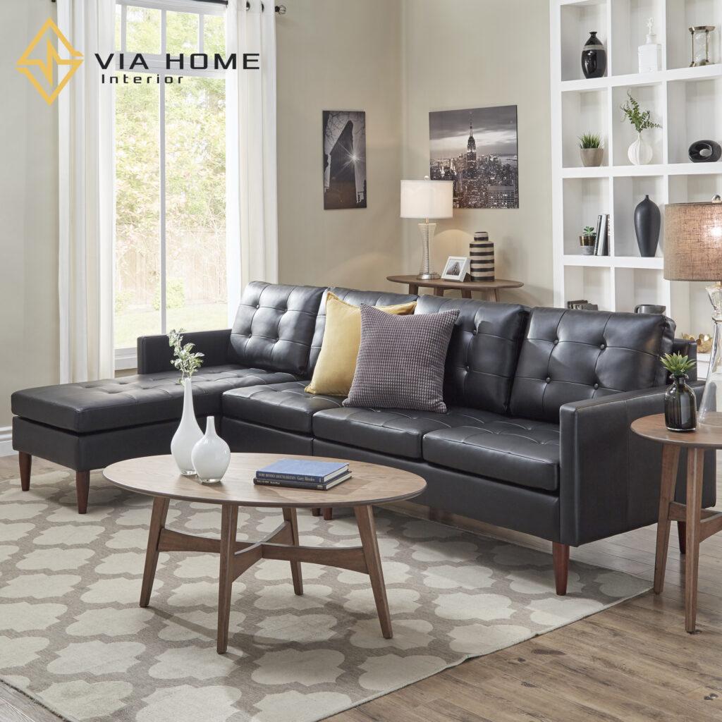 Sofa góc da tại VIA HOME được sản xuất kĩ càng, chuyên nghiệp từ mọi khâu.
