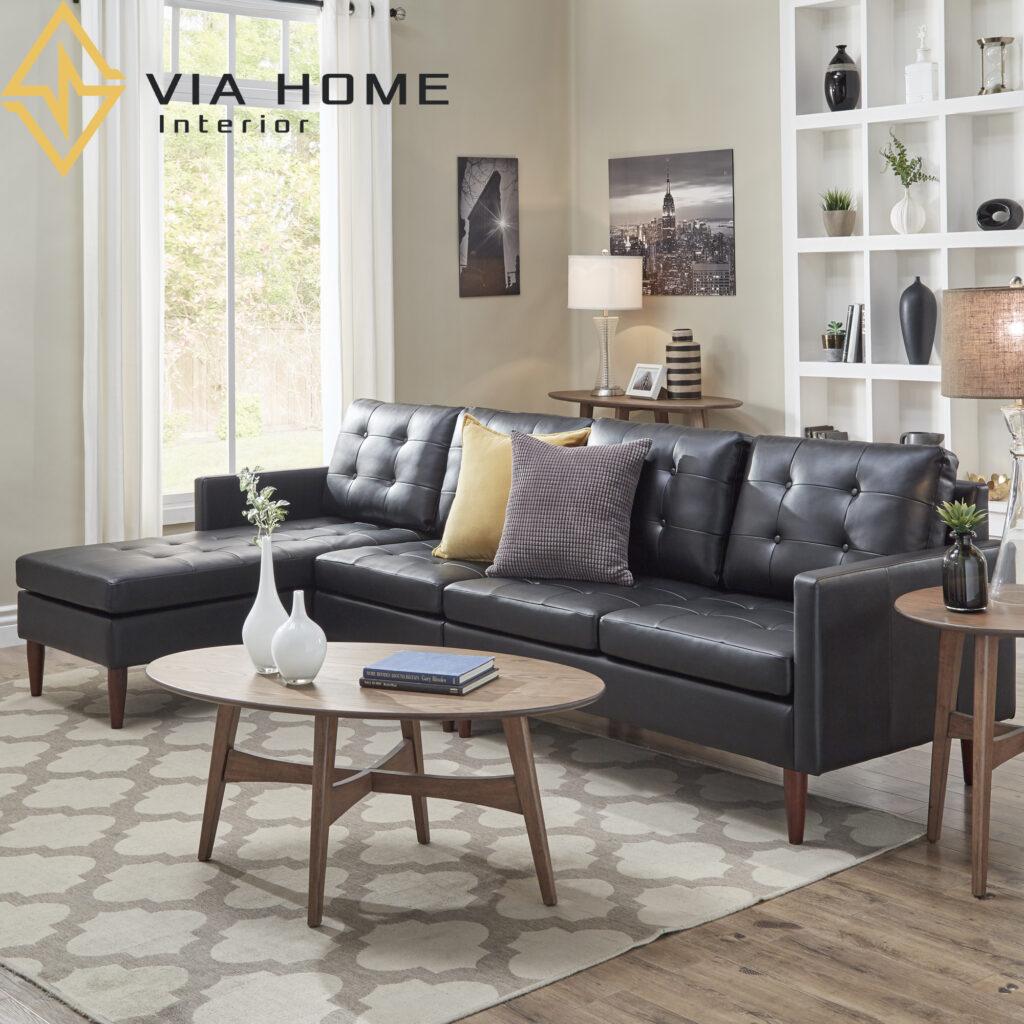 Sofa băng đem lại sự mới lạ, nổi bật cho không gian của phòng khách