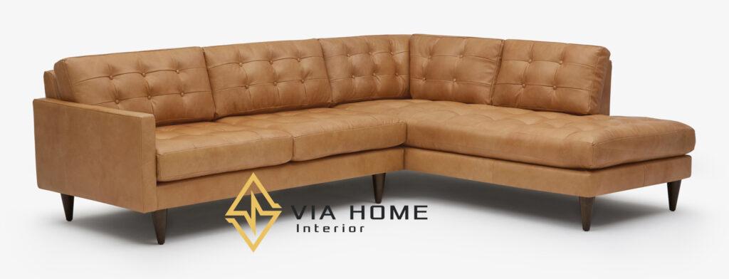 Mẫu sofa góc thư giãn đẹp sang trọng tại VIA HOME.