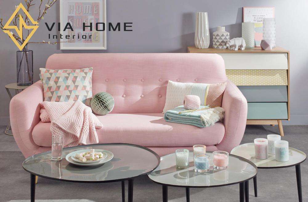 Sofa vải đem tới không gian hiện đại cho không gian phòng khách.
