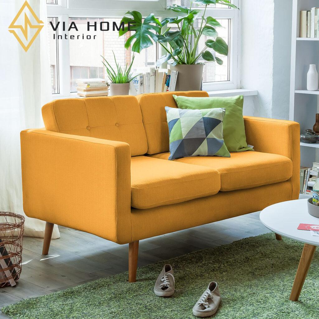 Sofa bọc vải cao cấp mang lại không gian đẹp, sang trọng và hiện đại hơn trong các gam màu tươi mới