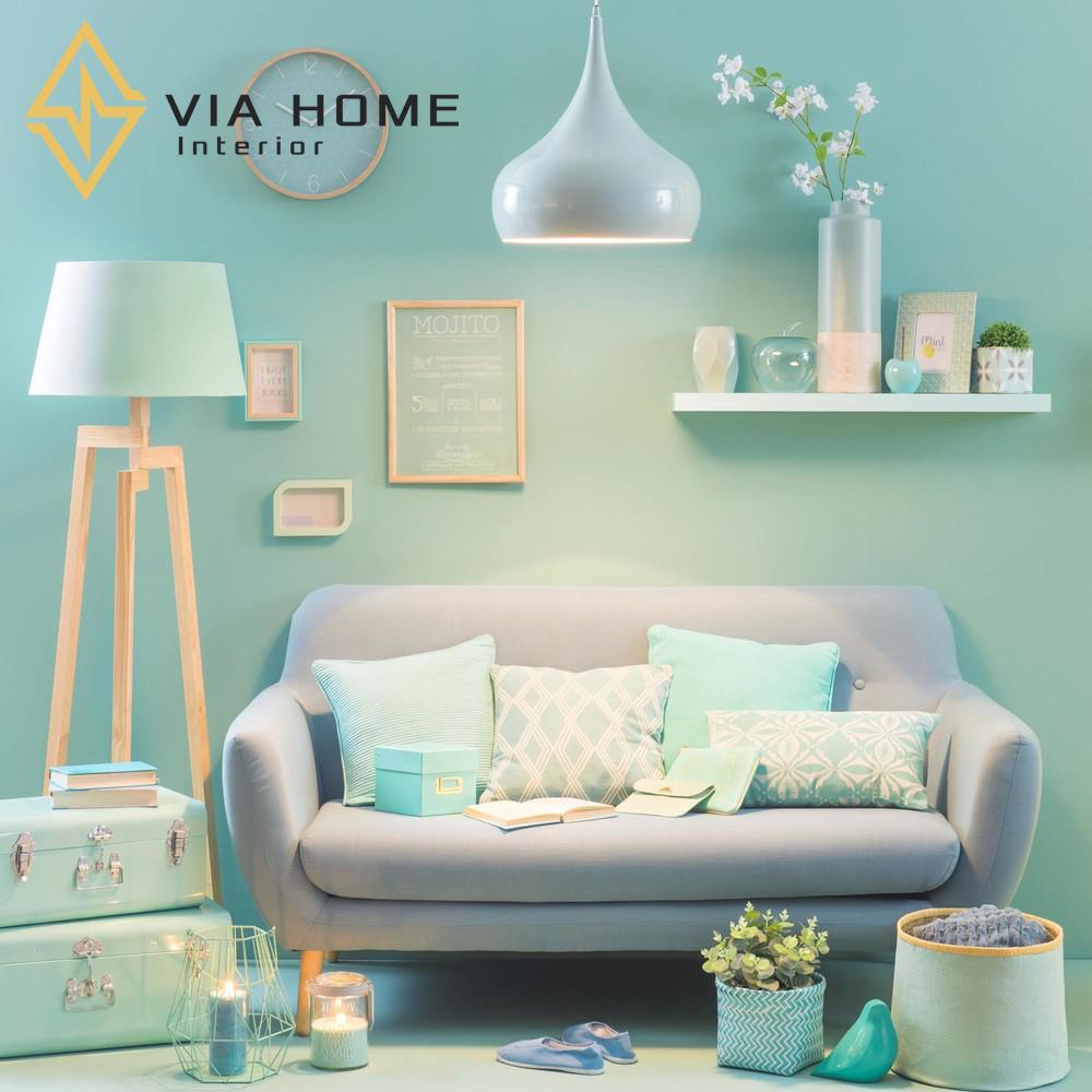 Sofa vải chữ L nhung mang tới vẻ đẹp sang trọng và quý phái cho không gian nhà bạn
