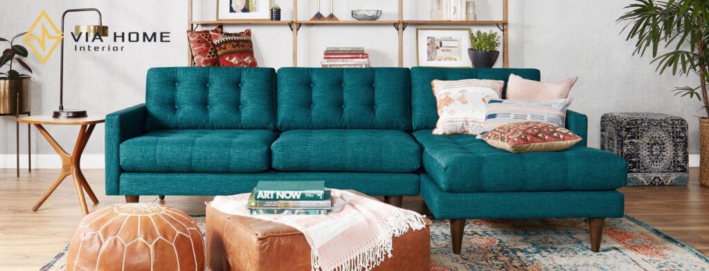 Sản phẩm sofa vải bố tại VIA HOME?