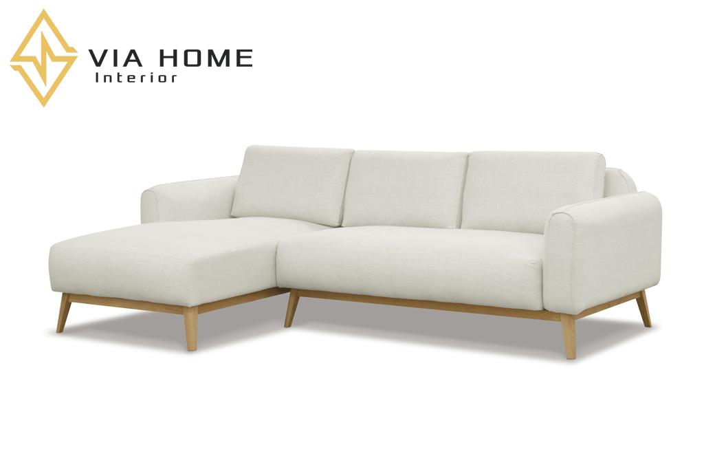 Sofa gỗ chữ L mang thêm không gian thư giãn cho bạn